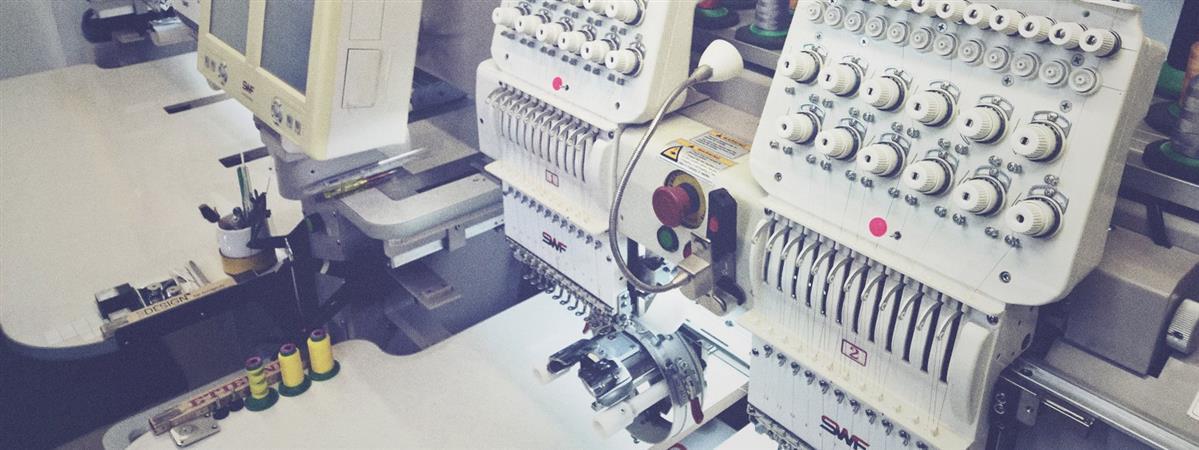 unsere SWF Stickmaschine